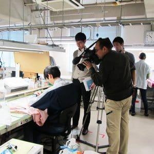 NHK取材加工作業風景
