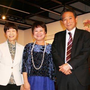 中野先生講演後、社長・副社長と。