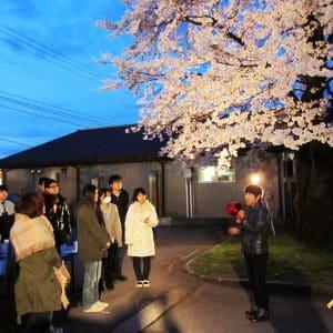 副社長から桜の所以を話していただきました。