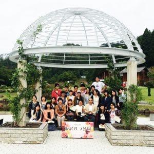 山形県 東沢バラ公園にて