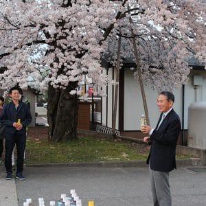 『奇跡の桜』についての由来を社長に語ってもらいました